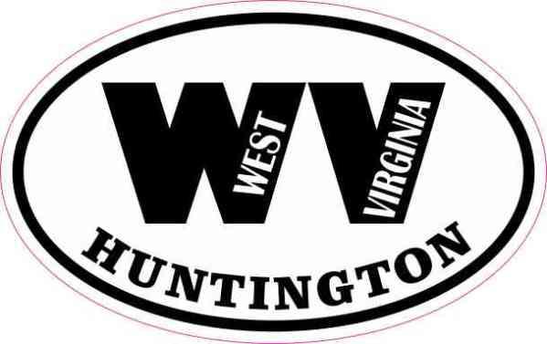 Oval WV Huntington West Virginia Sticker