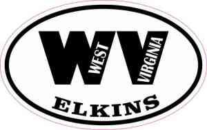 Oval WV Elkins Sticker