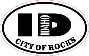 Oval ID City of Rocks Sticker