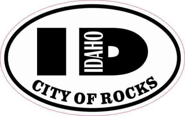 Oval ID City of Rocks Sticker