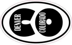 Oval CO Denver Sticker