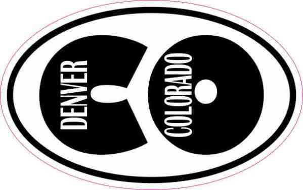 Oval CO Denver Sticker