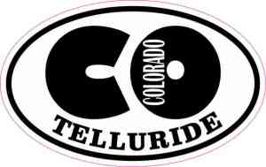 Oval CO Telluride Colorado Sticker