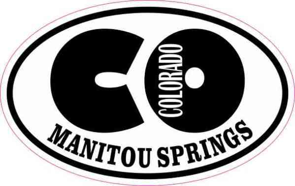 Oval CO Manitou Springs Colorado Sticker