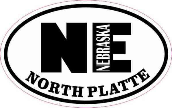 Oval NE North Platte Nebraska Sticker