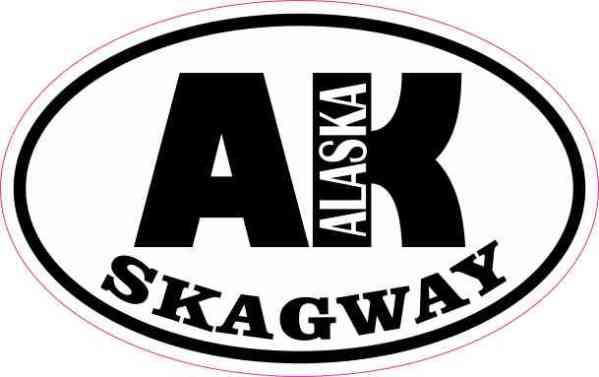Oval AK Skagway Alaska Sticker