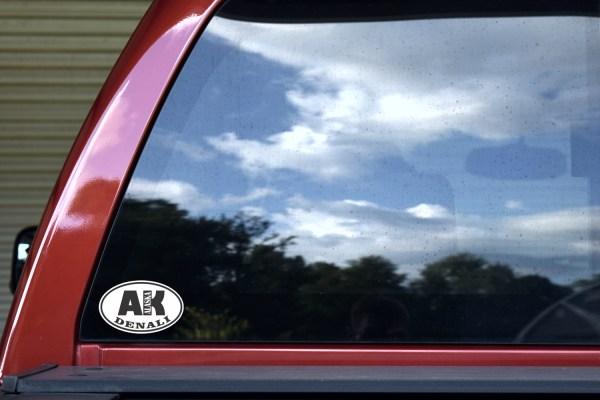 Oval AK Denali Alaska Sticker