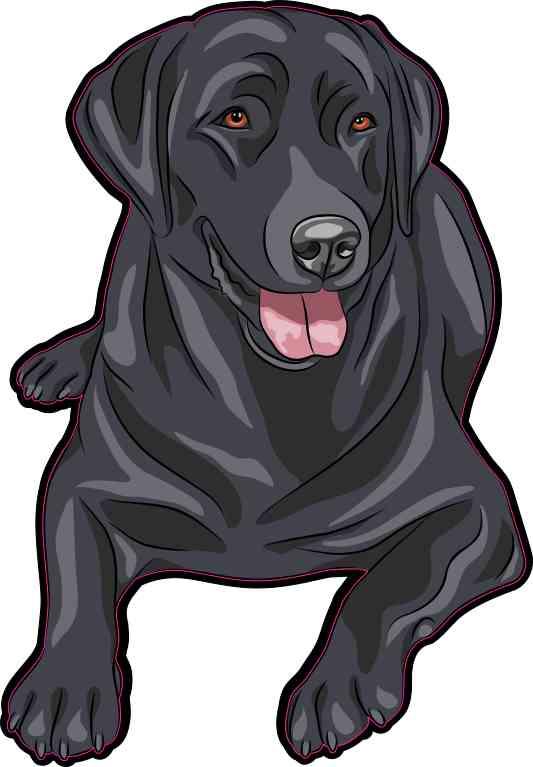 Black Labrador Retriever Sticker