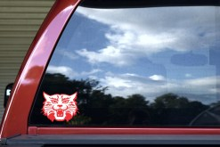 Red and White Wildcat Sticker