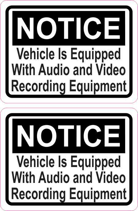 Inside Adhesive Notice Audio and Video Stickers