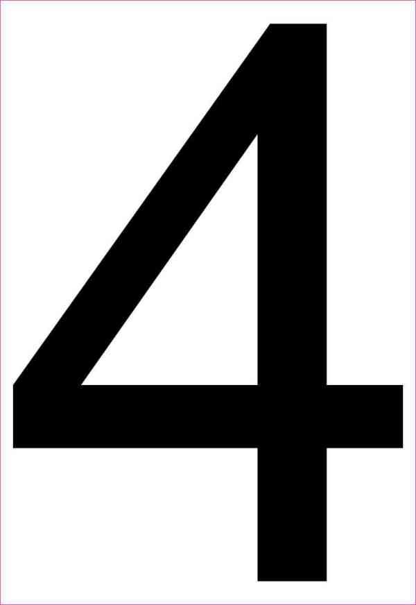 Address Number 4 Magnet