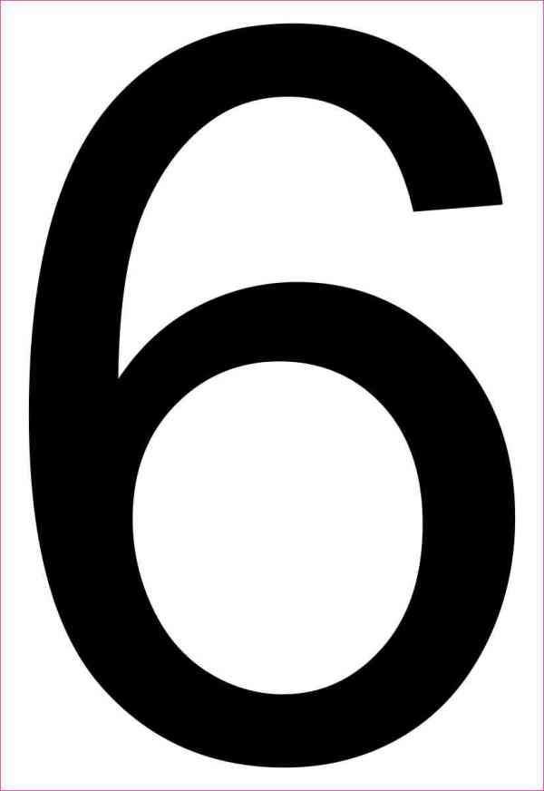 Address Number 6 Sticker