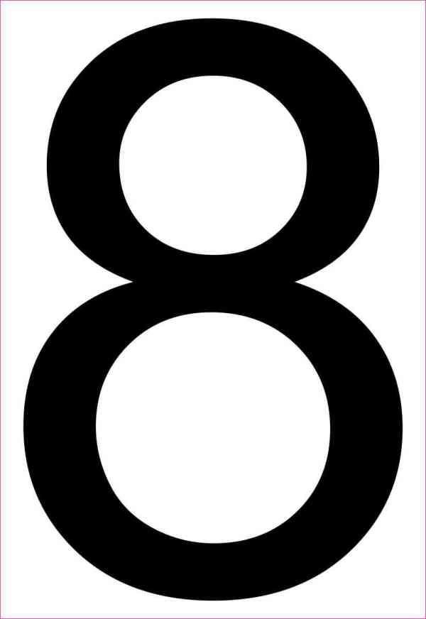 Address Number 8 Sticker