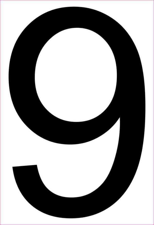 Address Number 9 Magnet
