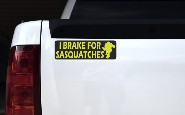 I Brake for Sasquatches Magnet
