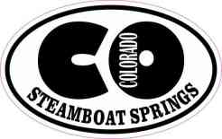 Oval CO Steamboat Springs Colorado Sticker