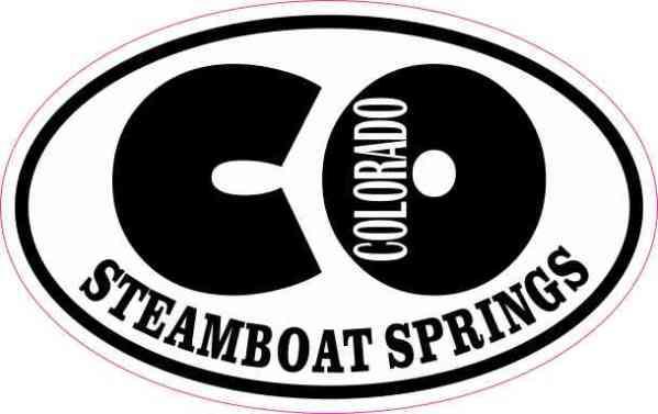 Oval CO Steamboat Springs Colorado Sticker