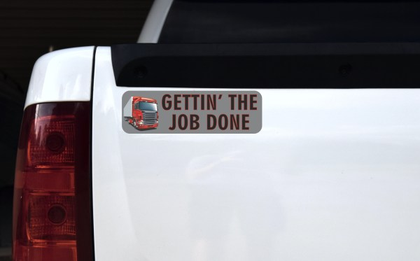 Truck Gettin' the Job Done Bumper Sticker