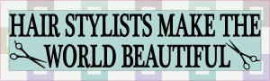 Hair Stylists Make the World Beautiful Magnet