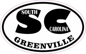 Oval SC Greenville South Carolina Sticker