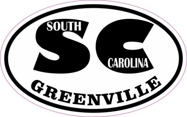 Oval SC Greenville South Carolina Sticker