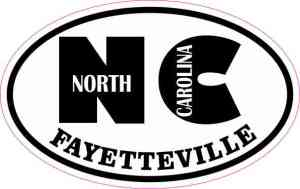 Oval NC Fayetteville Sticker