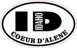 Oval ID Coeur d'Alene Idaho Sticker