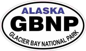 Oval Glacier Bay National Park Sticker