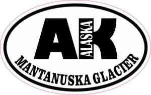Oval AK Mantanuska Glacier Sticker