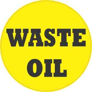 Waste Oil Sticker