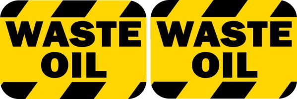Waste Oil Stickers
