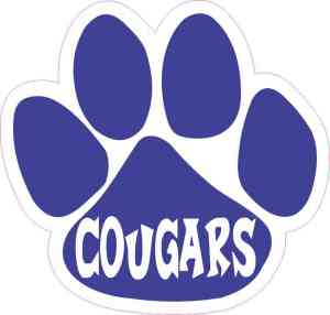 Blue Cougars Paw Sticker