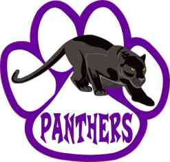 Purple Panther Paw Sticker