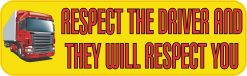 Respect Truck Drivers Magnet
