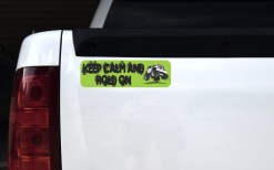 Green Keep Calm Hold On Magnet
