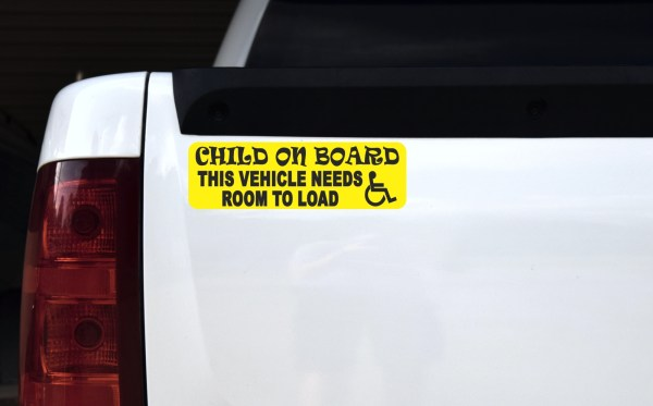 Child Vehicle Needs Room to Load Magnet