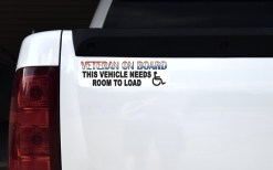 Veteran Vehicle Needs Room to Load Sticker