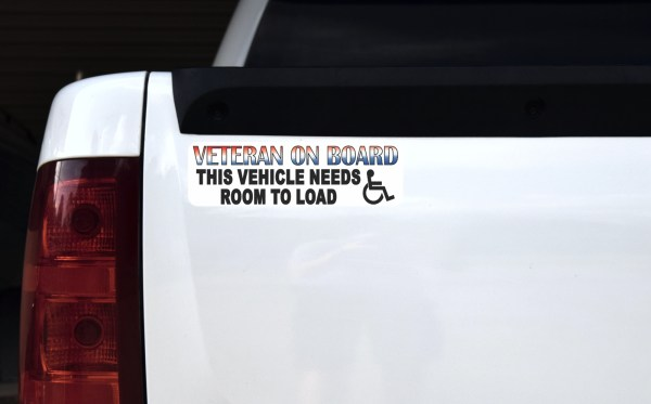 Veteran Vehicle Needs Room to Load Sticker