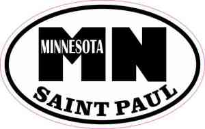 Oval Saint Paul Minnesota Sticker