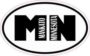 Oval Mankato Minnesota Sticker