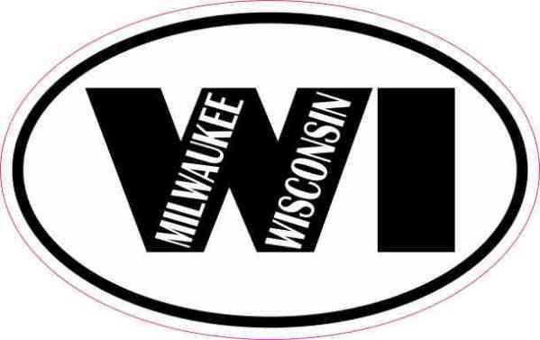 Oval Milwaukee Wisconsin Sticker