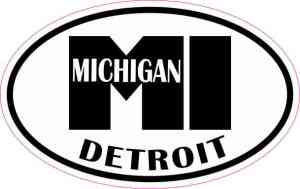 Oval Detroit MI Sticker