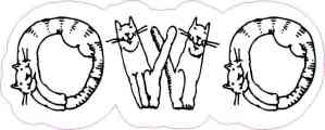 Cat OWO Sticker