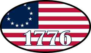 Oval 1776 Betsy Ross Flag Vinyl Sticker
