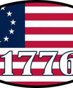 Oval 1776 Betsy Ross Flag Vinyl Sticker