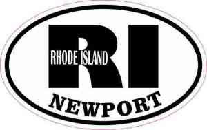 Oval RI Newport Vinyl Sticker