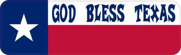 God Bless Texas Vinyl Sticker