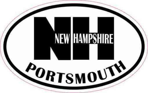 Oval NH Portsmouth Vinyl Sticker