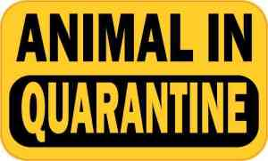 Animal in Quarantine Vinyl Sticker