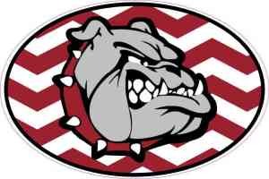 Chevron Oval Bulldog Vinyl Sticker
